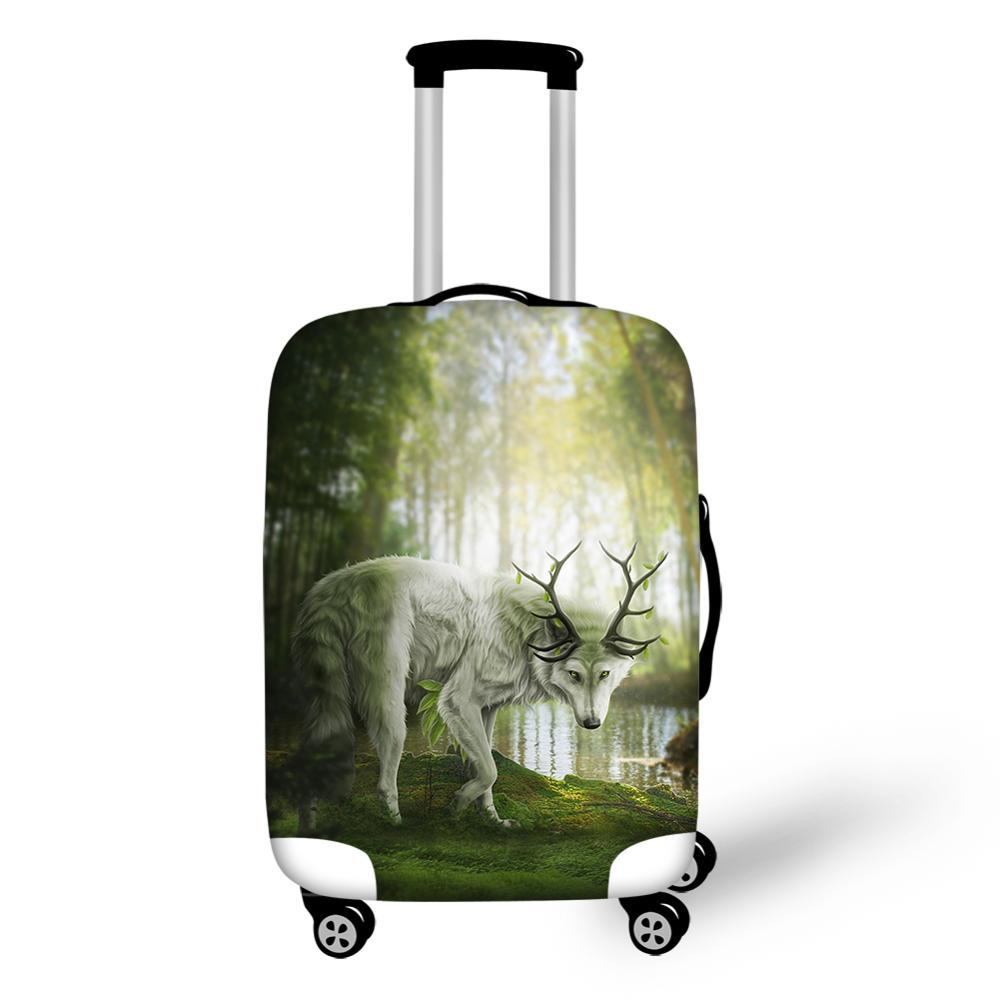 HaoYun Water-proof Suitcase Cover Cartoon Deer Pattern Luggage Cover Cute Animal Prints Elastic Dust-proof Luggage Protector