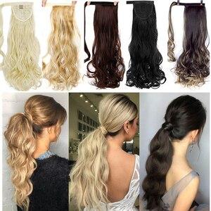 Элегантные длинные волнистые волосы MUMUPI, заколки для наращивания хвостиком