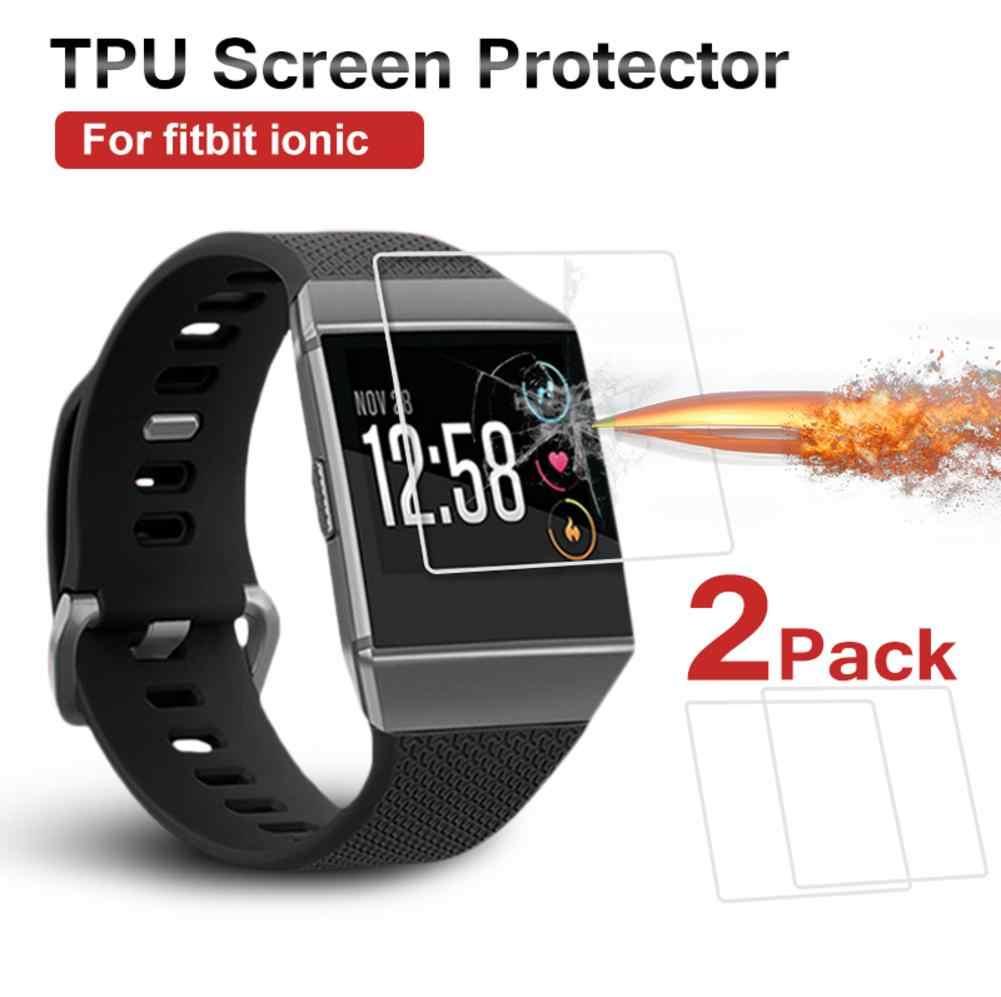 2 Stuks Smart Armband Hd Explosieveilige Screen Protectors Voor Fitbit Ionische # Bo