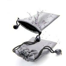 Flanelle étui pour écouteurs étanche casque sacs de rangement Portable étui de transport pour téléphone écouteurs accessoires Mini poche
