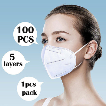 NEW unisex protective anti dust KN95 mask comfortable elastic earloop 5 layers protection filter adult Respirator face mask ffp2 image