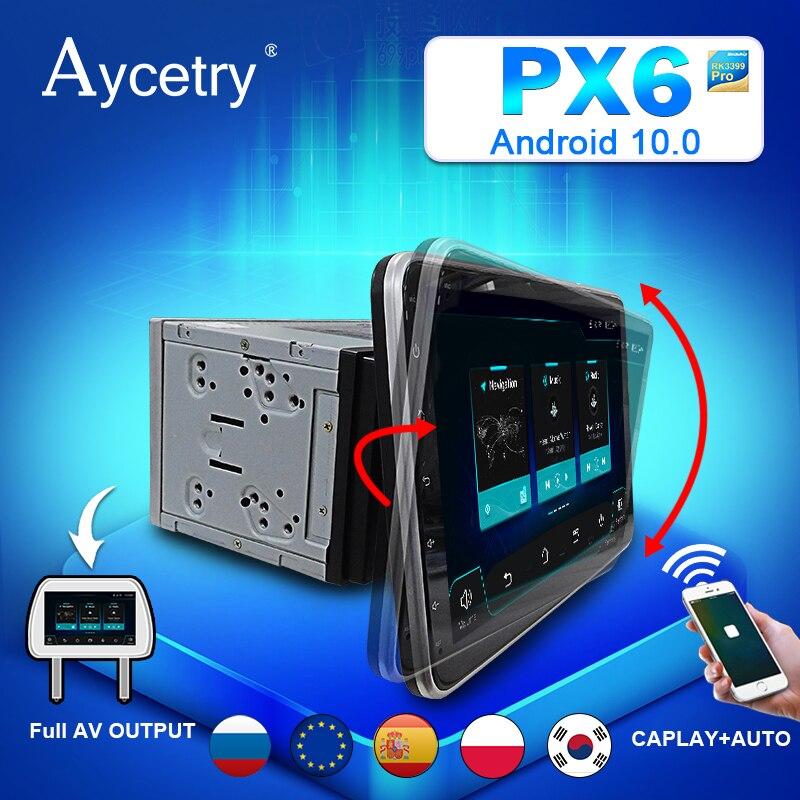 Универсальная Автомагнитола PX6, мультимедийный плеер на Android 10, с GPS, 4G LTE, типоразмер 2 Din
