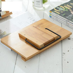 Image 5 - 5 Levels of Height Adjustment Reading Rest Tablet Cook Home Study Room Book Holder Foldable Cookbook Stand Pages Fixed Bamboo