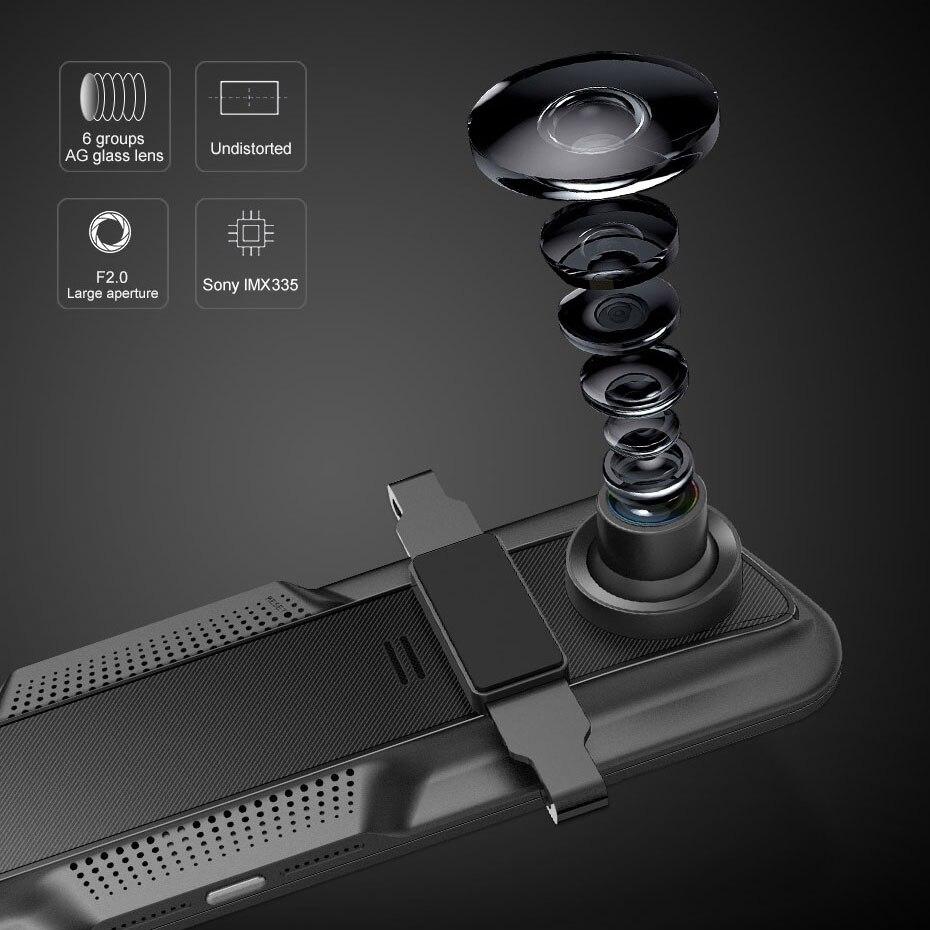 Olysine 2K IMX335, зеркало заднего вида, DVR, автомобильная камера, 1440 P, dsm Cam, 12 дюймов, ночное видение, двойной объектив, видео рекордер, 1080 P, камера заднего вида - 5