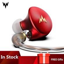 Whizzer A HE03 Hybrid Anker Hallo Res Kopfhörer HiFi Bass Ohrhörer 2Pin Stecker 3,5mm In Ohr Monitore HiFi Headsets