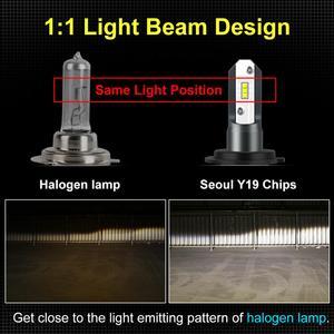 Image 5 - 2pcs Fanless H7 Car Headlight Bulb H1 H3 H4 Seoul Y19 Chips LED Lamp Bulbs H8 H9 H11 9006 HB4 9005 HB3 H27 880 881 Auto Led Lamp
