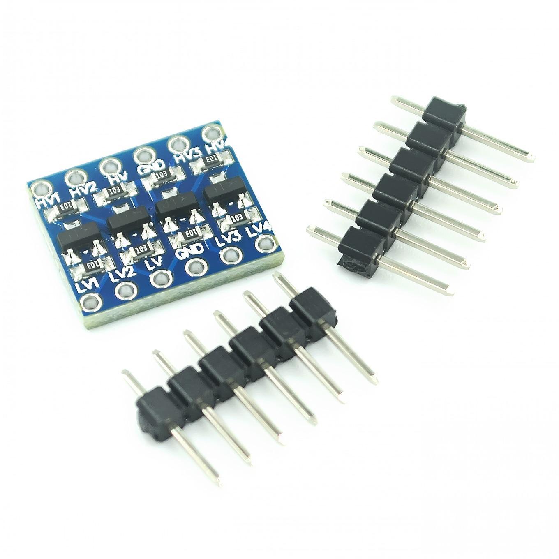 10 шт./лот 4-канальный преобразователь логического уровня IIC I2C двунаправленный модуль от 5 В до 3,3 В