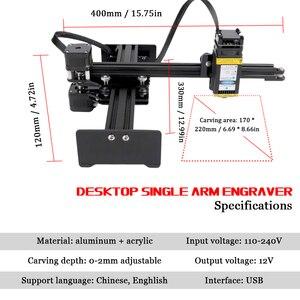 Image 5 - KKMOON graveur de bureau Portable professionnel, Machine à graver, DIY, 10000 bois, CNC mW