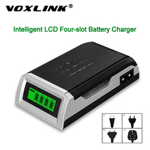 VOXLINK بطارية شاحن LCD 002 LED المنزلية عرض مع 4 فتحات الذكية ذكي ل AA/AAA البلى نيمه بطاريات قابلة للشحن
