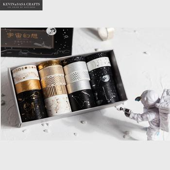 20Rolls/Lot Foil Universe Washi Tape Set DIY Craft Masking Scrapbooking Tape For Diary Album Stationery School Supplies Gift