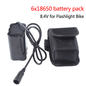 8.4V 12800mAh Battery Pack Waterproof 6x18650 Rechargeable Lithium Battery Pack for T6 Auto Lamp Bicycle Headlights Bike Cells