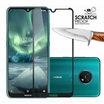 Перейти на Алиэкспресс и купить 3D полное покрытие закаленное стекло для Nokia 7,2 9 2,2 4,2 3,2 8,1 7,1 5,1 Plus X5 защита экрана закаленное стекло для Nokia 9 8 7 2 3