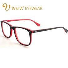 IVSTA Handmadeไม้กรอบแว่นตาไม้สแควร์แว่นตาสายตาสั้นแว่นตาเลนส์Acetateกรอบขนาดใหญ่