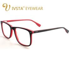 IVSTA Handmade Wooden Eyeglasses Men Wood Glasses Square Spectacle Myopia Eyeglasses Optical Lenses Acetate Frames Big Oversized