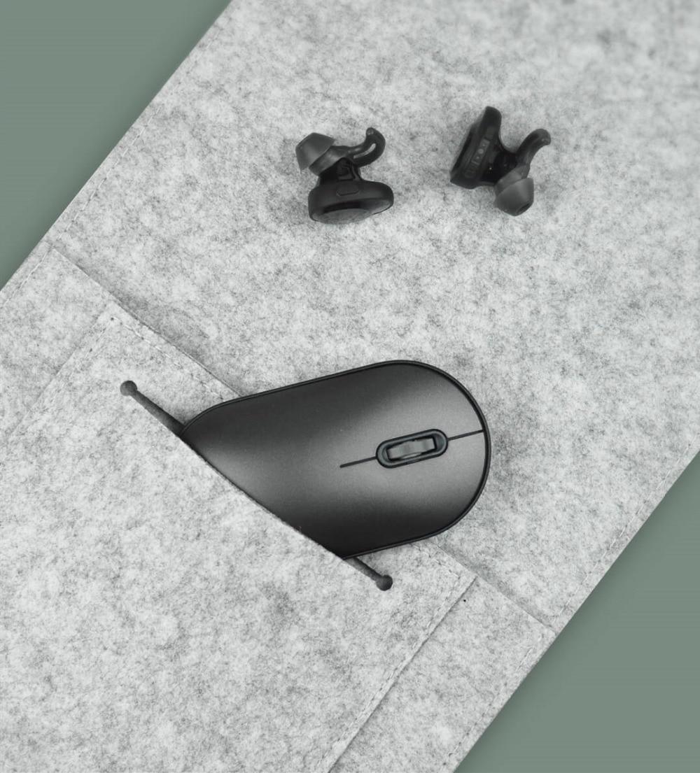 duplo portátil mouse conexão bluetooth ultra-fino elegante e leve mouse