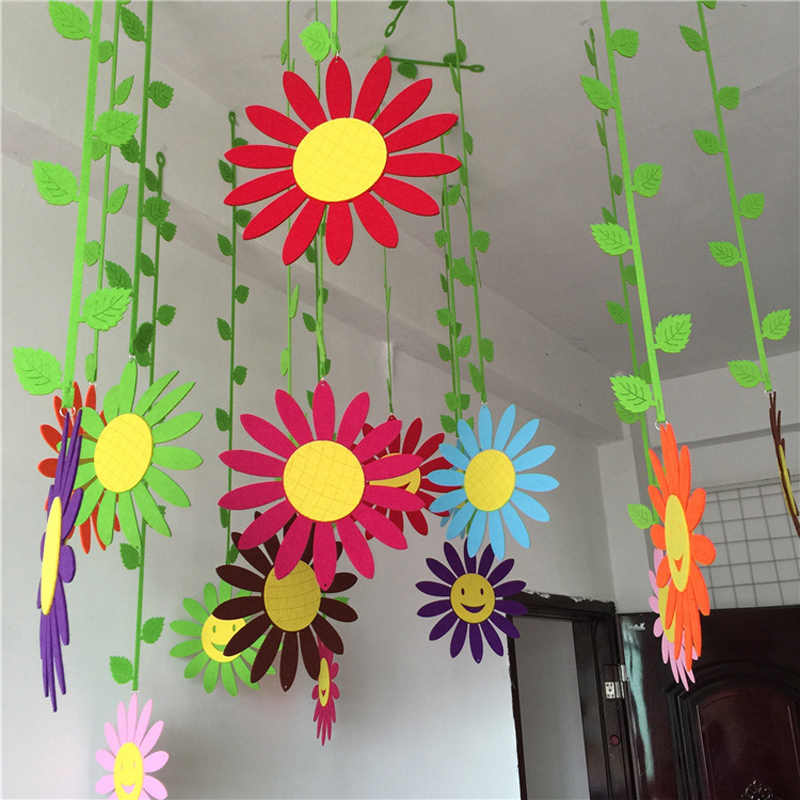 1 Meter Colorful EVA Sunflower Pumpkin Fruit Insect Kindergarten Nursery Decoration Curtain DIY Assembling Puzzle Toys Speelgoed