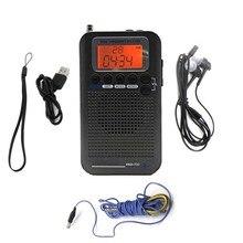 מלא להקת סטריאו מקלט נייד CB/FM/AM/SW רדיו עם LCD תצוגת שעון מעורר & אוזניות