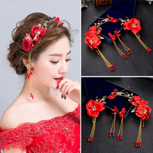 Headband Jewelry Tiaras Wedding-Crowns Bridal Earring Headpiece Hair-Accessories Women