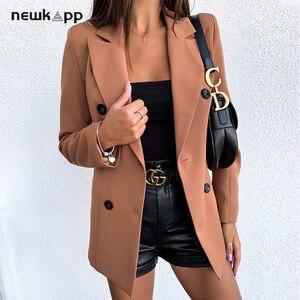 Kobieta moda Casual dopasowany płaszcz Lady Girls solidny damski garnitur oficjalny Slim Blazers odzież kurtki damskie Plus Size płaszcze