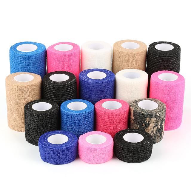 2.5cm*5M Self-Adhesive Elastic Bandage First Aid Medical Health Care Treatment Gauze Tape Emergency Muscle Tape First Aid Tool 3