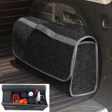 Car Storage Portable Foldable Multipurpose Felt Cloth Folding Storage Box Organizer Case Tools Car organizer box  for Car Truck