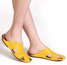 Women Sandals 100% Authentic Leather Gladiator Sandals Women Summer Shoes Beach Slides Ladies Shoes