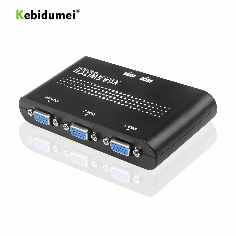 Kebidumei 2 в 1 выход VGA/SVGA ручной переключатель коробка Оригинал для ЖК ПК оптовая продажа новейшее новое поступление