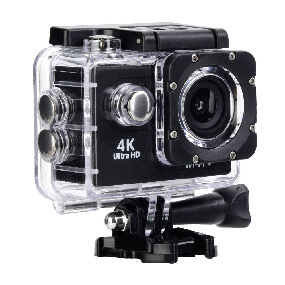 4K HD WiFi Action sport caméra grand Angle objectif 30M boîtier étanche deux batterie vélo montage Kit intégré micro livraison gratuite
