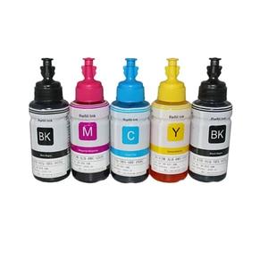 Image 3 - HTL 5PK 70ml atrament barwnikowy wkład tuszu kompatybilny dla epson L200 L210 L222 L100 L110 L120 L132 L550 L555 L300 L355 L362 tusz do drukarki