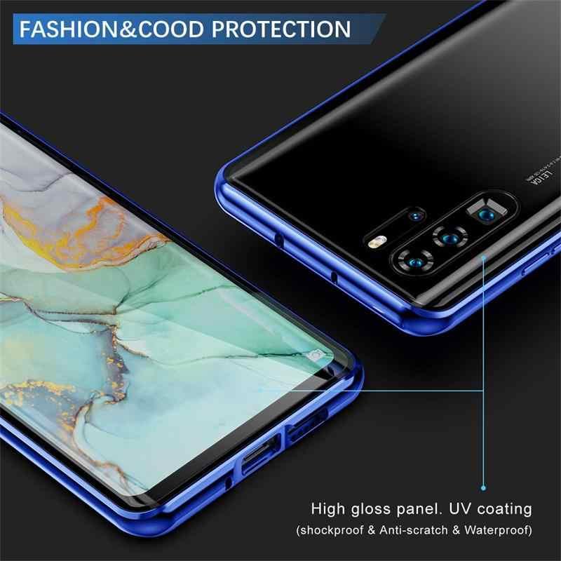 360 Volledige Dekking Magnetische Case Voor Xiaomi Redmi Note 8 Pro Dubbelzijdig Glas Cover Metal Bumper Voor Xiaomi Redmi note 8 Gevallen