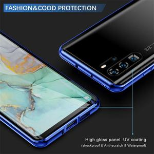 Image 4 - Voor Oppo Reno Ace Flip Case Oppo Realme Q 5pro Schokbestendig Gehard Glas Voor Oppo V17 Pro A5 A9 2020 a11 A11x A7 A5s F9 Shell