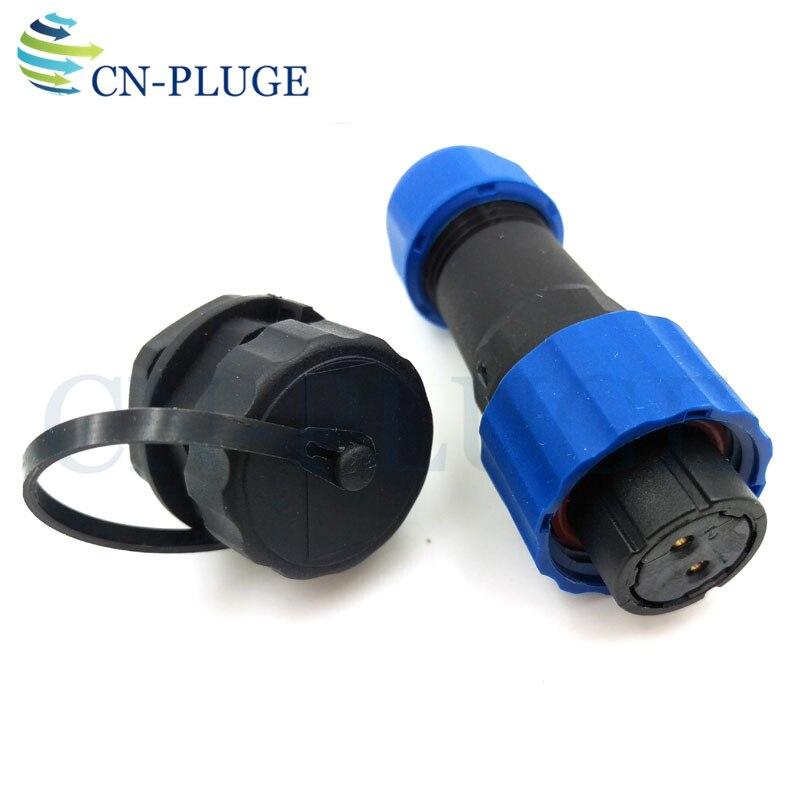 Connecteur étanche pour fil d'aviation, prise mâle alimentation LED, IP68, 2, 3, 4, 5, 6, 7, 9 broches, SP16