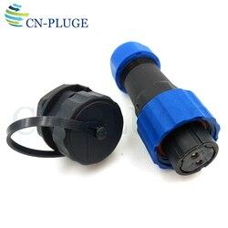SP16 2 3 4 5 6 7 9 pin Fio Conector Da Aviação À Prova D' Água Masculino Soquete do Conector de montagem em Painel de LED de Energia IP68