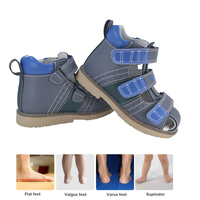 Ortoluckland Boys Genuine Leather Sandals Orthopedic Shoes For Children Toddler Baby Closed Toe Shoes With Arch Support Sole