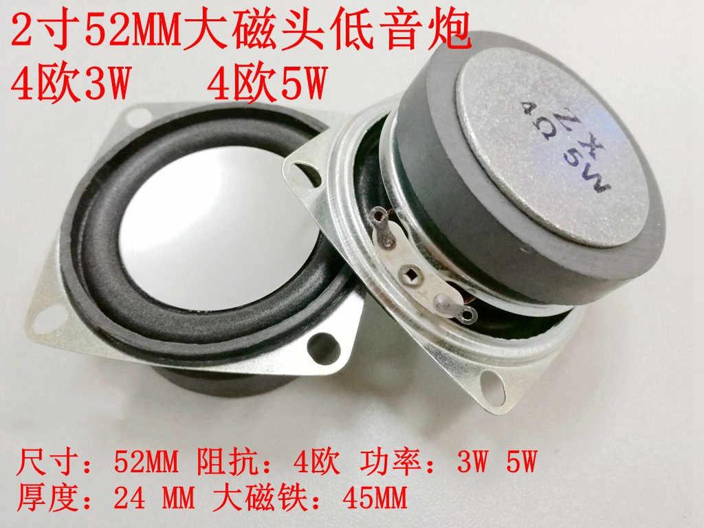 2-Inch 52mm4 Euro 8 3W5W Magnet Besar Kawat Subwoofer Ultra Racun Demam Bass Bluetooth Speaker