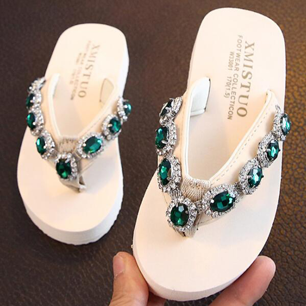 New Parent-child Slippers Summer Girls Outdoor Fashion Anti-slip Soft-sole Child Sandals Diamond Sandals Beach Flip Flop Sh255 With The Most Up-To-Date Equipment And Techniques