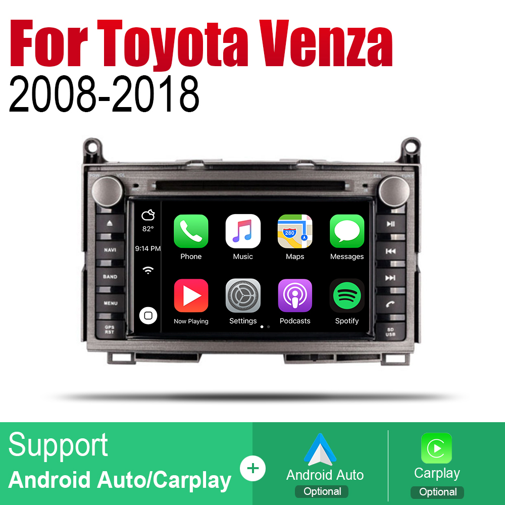 ZaiXi Android 2 Din Auto Radio DVD For Toyota Venza 2008 2018 Car Multimedia Player GPS Navigation System Radio Stereo in Car Multimedia Player from Automobiles Motorcycles
