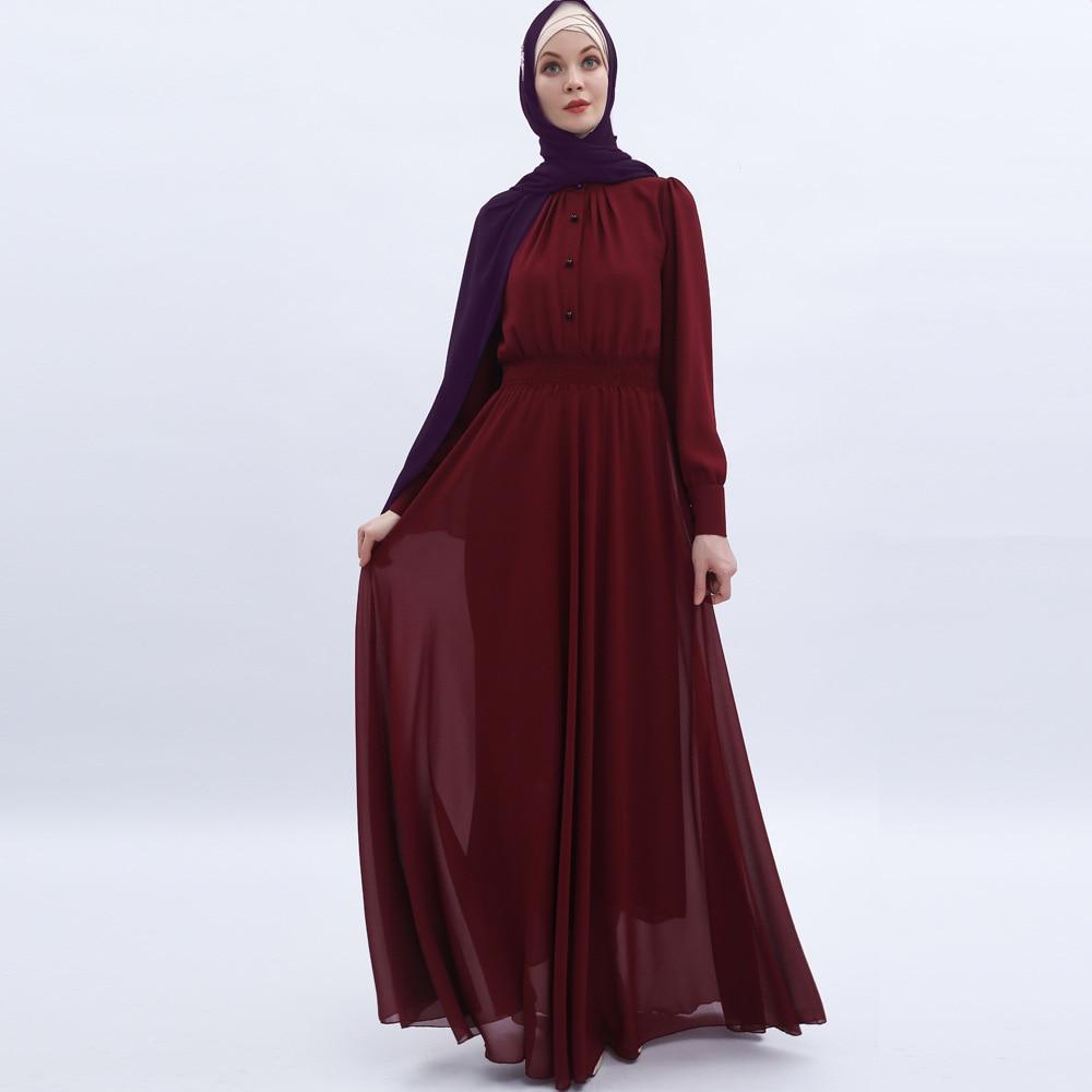 Fashion Abayas for Women Chiffon Muslim Dress Turkey Muslim Women Hijab Dress Islam Caftan Marocain Dresses Vestidos Eid Mubarak 3