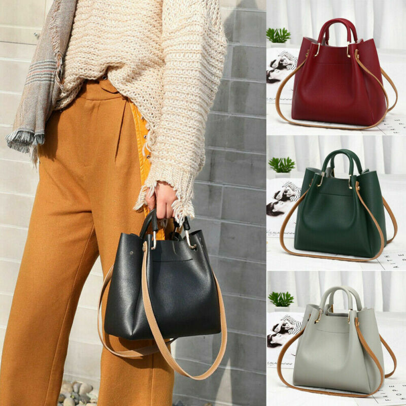 1pc Fashion PU Leather Ladies Handbags Larger Women's Bag Hair Ball Shoulder Bag Messenger Crossbody Bag For Women