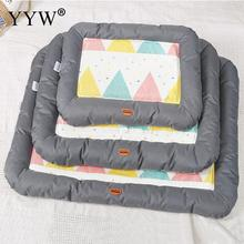 Dog Pet Basket Bed Mats Oxford Cloth Pad Cot Cushion Waterproof Cozy Nest For Large Breathable Cat Pads Supplies