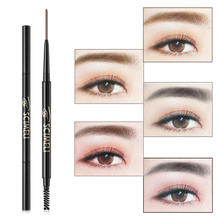 5 Colors Double Ended Eyebrow Pencil Natural Long Lasting 1.5mm Waterproof Cosmetics Eyebrow Pencil Makeup black rj45 m20 ip67 protection double ended waterproof connector m1 set of 5