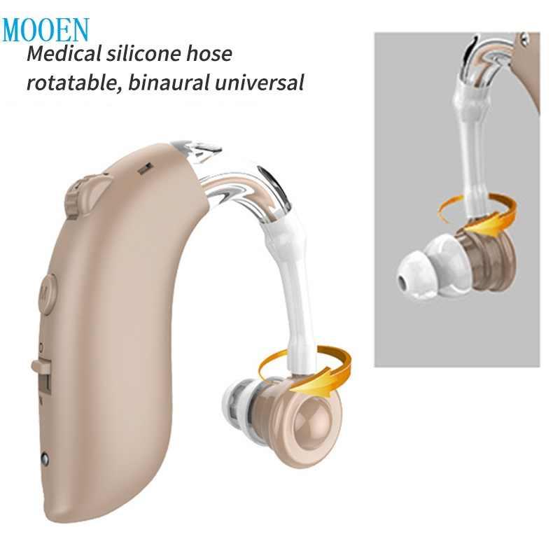 Digital Baru dengan Harga Murah Isi Ulang Hearing Aid Mini Perangkat Telinga Amplifier Digital Alat Bantu Dengar BTE Tua Perawatan Telinga Hearing Amplifier
