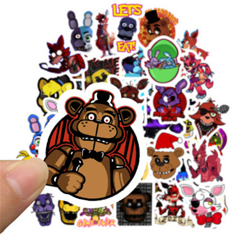 <font><b>50</b></font> Pieces / FNAF <font><b>stickers</b></font> Freddy's Five Nights Dream Freddy Capone Happy Hour Sly Waterproof <font><b>Sticker</b></font> Toy Midnight Harem image
