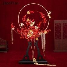Janevini роскошный свадебный букет невесты с красными металлическими