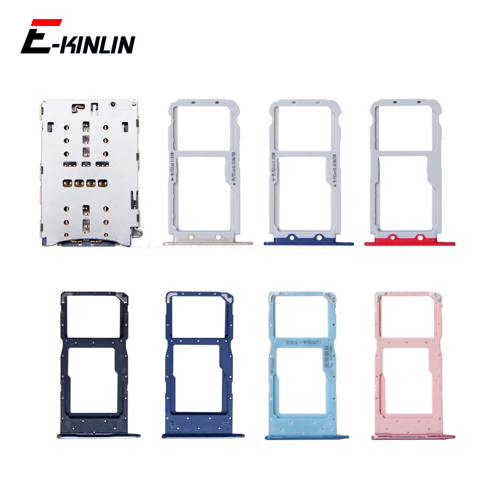 Sim Micro SD Card Socket Holder Slot Tray Reader For HuaWei Honor View 10 Lite 10i Adapter Container Connector Replacement Parts