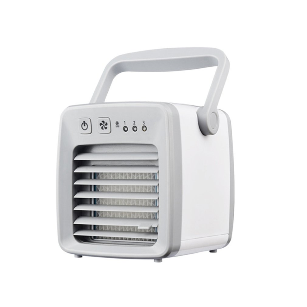 USB Portable Mini Air Conditioner Air Conditioning Cooling Fan Air Cooler Fan Humidifier Purifier For Home Office Travel Use