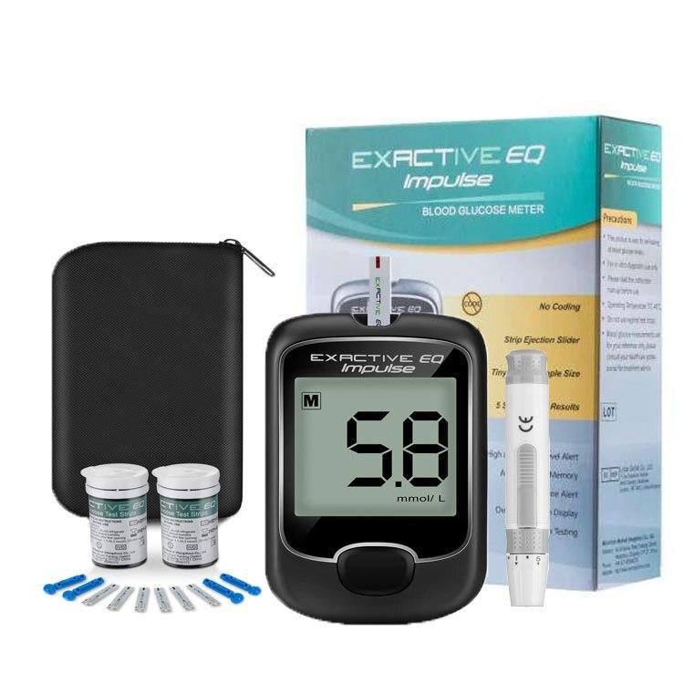 Портативный глюкометр, детектор диабета, реагент, глюкометр + ручка для взятия крови + 50 тест-полосок + 50 игл + сумка для хранения