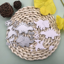 CH Dinosaur Paradise 3D Gift Stitched DIY Scrapbooking Stamps Craft Embossing Die Cut Making Stencil Template(China)