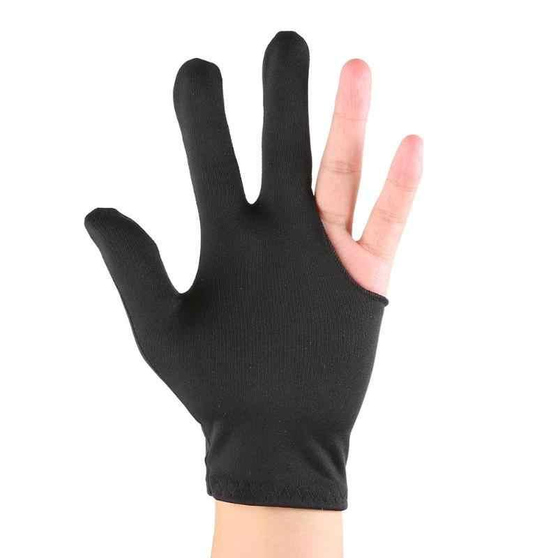 สามนิ้วสนุ๊กเกอร์บิลเลียดคิวถุงมือไลคร่าผ้าเย็บปักถักร้อยซ้ายมือเปิดสระว่ายน้ำฟิตเนสอุปกรณ์เสริม HOT SALE Dropshipping