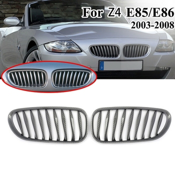Car Carbon Fiber ABS Sporty Grille Front Bumper Grille For-BMW E85 E86 Z4 03-07 image